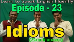 Basic English Grammar Lesson idiom of sadness: Episode – 23