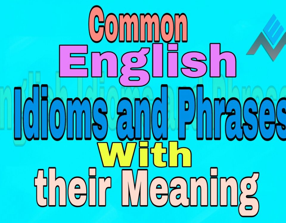 Common English idioms and phrases with their meaning