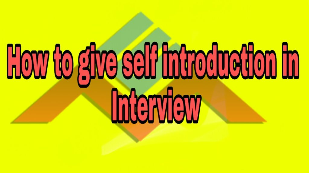 How To Give Self Introduction In An Interview   English Mania