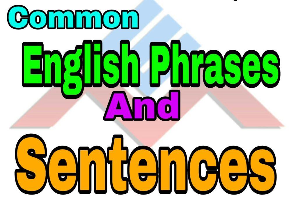 Common English Phrases and Sentences - English Mania Spoken